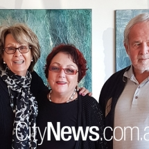 Margaret Dimmoff with Ray and Ken Harvey