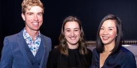 Rob Henry, Holly Caton and Chloe Yin