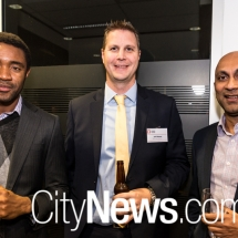 Saidu Kamara, Jeff Brewer and Dhammith Abeysuriya