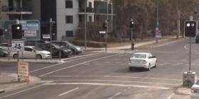 Sample still camera image at a city intersection.