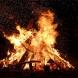bon fire, backyard fire,