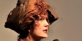 "Liz in her costume for ""Cobras"" speaking  at the NFSA, photo Samara Purnell."