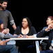 "Lisa Maza, centre, and the cast of ""The Season"". Photo by James Henry"