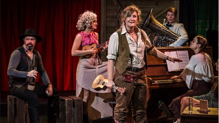 Central to the success of this concept is Virginia Gay's brilliant performance as Calamity Jane... Photo by John McRae