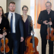 Classical guitarist Matt Withers (in tie) with the Acacia Quartet on Saturday. Photo by Peter Hislop