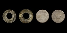 Australia's first coins, the holey dollar and dumps, which were made in NSW in 1813. Photo by the Royal Australian Mint.