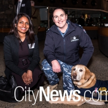 Kavitha Robinson, Cpl. Sarah Tooley and Retired E.D.D. Wilbur