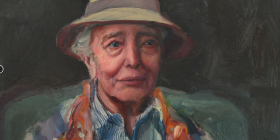Kerry McInnis, 'Elizabeth Cummings in hat,' finalist in Black Swan Prize