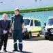 Mr Gentleman and ACTAS chief officer Howard Wren, with the new ambulances
