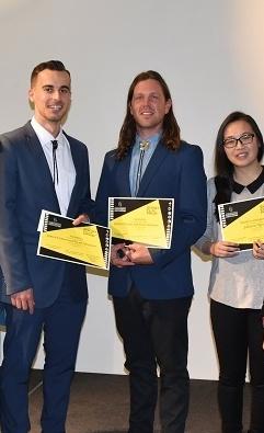 Jamey Foxton,  Ryan Simpson and Julianne Nguyen