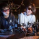 Shan Liu and Yan Sheng from the ANU Research School of Physics and Engineering test nanocrystals in the lab. Photo: ANU