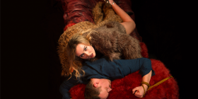 "Joanna Richards and Craig Alexander in ""Venus in Fur""... ""It's a very sexy play and you don't feel as if you're in a tragedy – you laugh,"" says Richards."