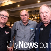 Charlie Tizzard, Paul Nicholl and Darrin Lincoln