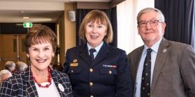 Judy Mack, Air Commodore Kathryn Dunn and Les Bienkiewicz
