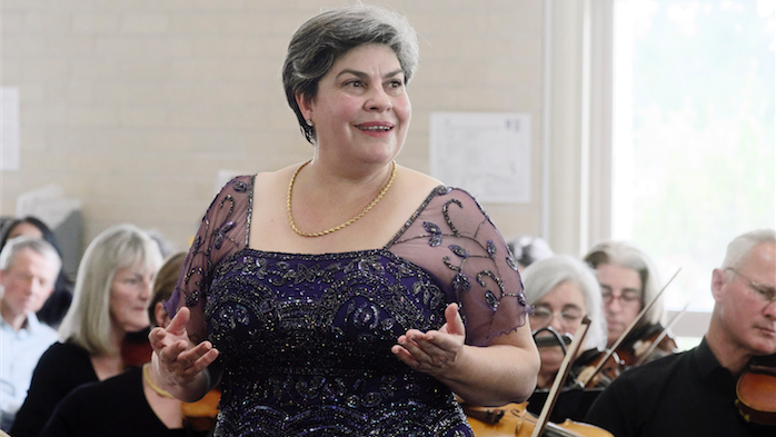 Soprano Louise Page... the size and strength of the string orchestra supported Page's voice at just the right level. Photo by Peter Hislop