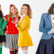 From left, Madeleine Betts (as Heather Duke), Charlotte Gearside (Heather Chandler), Mikayla Brady (Heather McNamara) and Belle Nicol (Veronica Sawyer). Photo by Janelle McMenamin