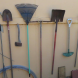 Store garden tools where you can find them.