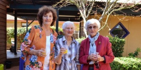 Irene Brewer, Nancye Daley and Dawn Van Heythuysen