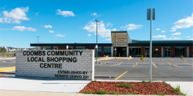 Coombs Community Local Shopping Centre… untroubled by tenants. Photo by Paul Costigan