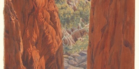 Albert Namatjira, 'Standley Chasm about 1945' NGA, gift of Marilyn Darling AC in memory of Gordon Darling