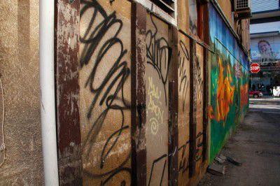 Graffiti near Bunda Street, Civic.