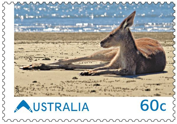 Amanda Morrison's award-winning photo on the Australia Post stamp released today.