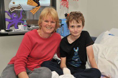 Ten-year-old Daniel Jamieson and his mum Joanne Bateman... full of praise for the pediatrics staff at The Canberra Hospital. Photo by Silas Brown.