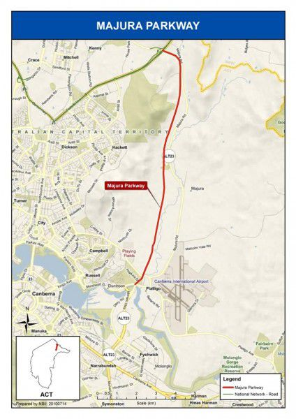 The proposed Majura Parkway.