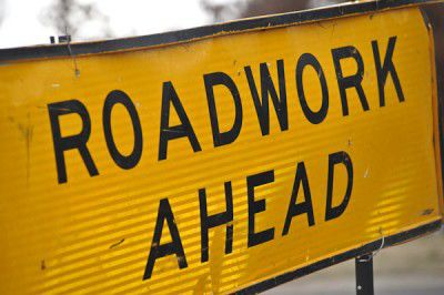 sign, road, roadworks