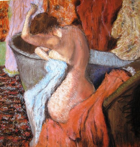 "Tim Hardy's after Edgar Degas ""Seated Bather Drying Herself' 1895"