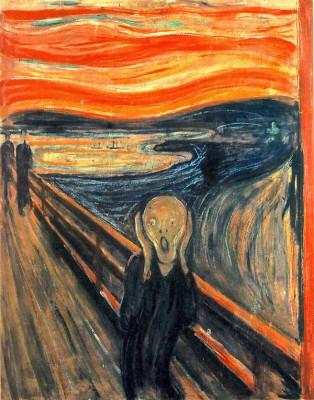 "Norwegian artist Edvard Munch's famous expressionist painting ""Scream"""