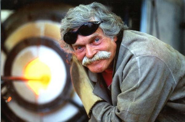 Glass artist Klaus Moje.
