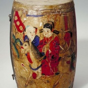 Drum... percussion instruments such as drums and cymbals played important roles in Tang-era orchestras. © Courtesy of the AMNH Division of Anthropology.