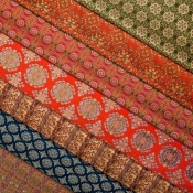Chinese silks... modern reproductions of Tang-era silks (618–906AD). The silks were prized throughout Asia for their vibrant colors and superior patterns. © AMNH/D.
