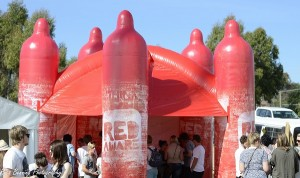Say what? A giant condom castle? | Canberra CityNews