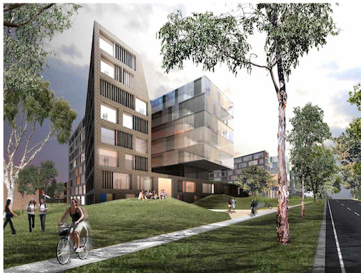 Northbourne Flats redevelopment concept drawing.