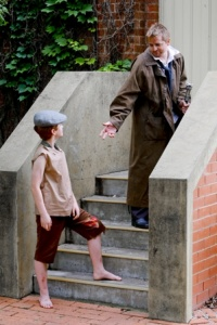 Burgess as Oliver, Michael Jordan as FaginPhoto by Family Fotographics