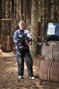 """Paintballer Rose Pearce... """"This tournament is about encouraging women to be involved."""" Photo by Silas Brown"""
