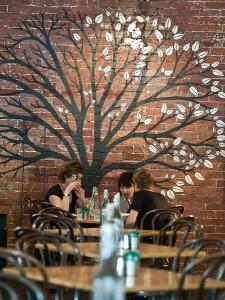 "The ""tree of life"" mural at Urban Pantry"