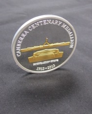 The limited edition Centenary Medallion.