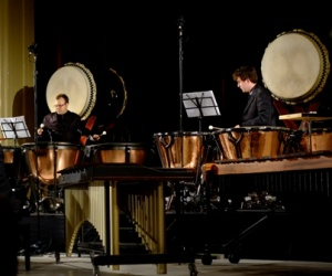TaikOz performing at last night's opening concert of the music festival. Photo by Judith Crispin