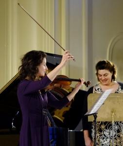 Violinist Madeleine Mitchell and soprano Louise Page.