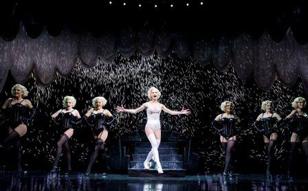 Esther Hannaford and the chorus line, photo  JAMES MORGAN