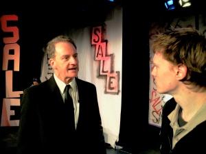 l. Barry (Rob de Fries) and r. Sam (Brendan Kelly)