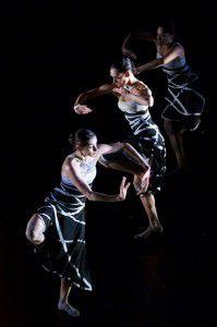 Bangarra dancers Yolande Brown, Deborah Brown and Nicola Sabatino. Photo by Greg Barrett