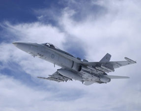 An F/A-18A Hornet from 77 squadron.