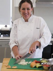 "Chef Maggie Taylor... ""I try to up the level a bit from 'mother's cooking', it's very seasonal."""