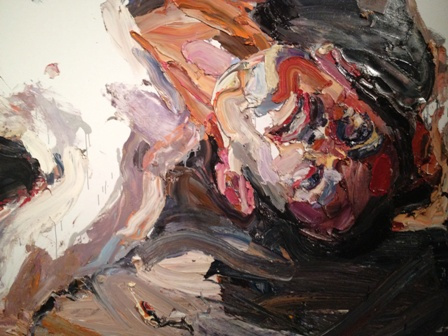 """Details from Ben Quilty'spainting """"Captain S, After Afghanistan"""""""