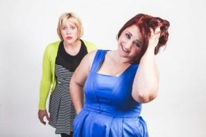 Andrea and Bonnie, comedians
