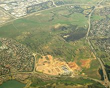 Aerial view of Crace